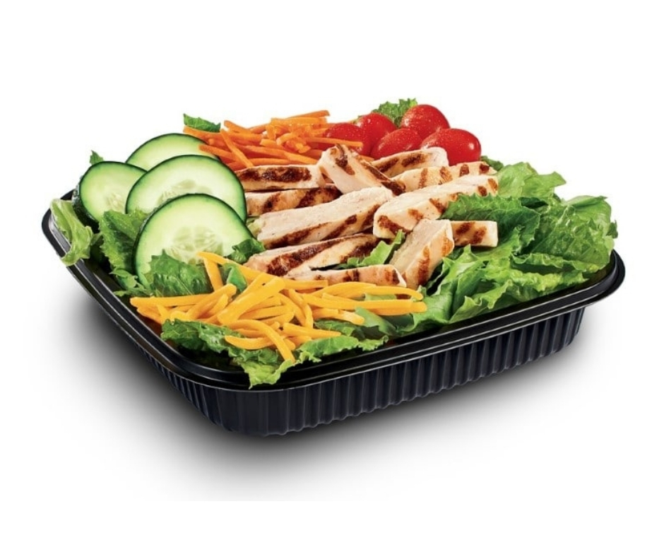 image of jack in the box low carb fast food Grilled Chicken Salad
