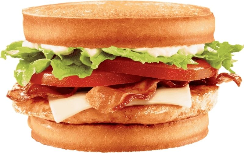 image of jack in the box low carb Sourdough Grilled Chicken Club
