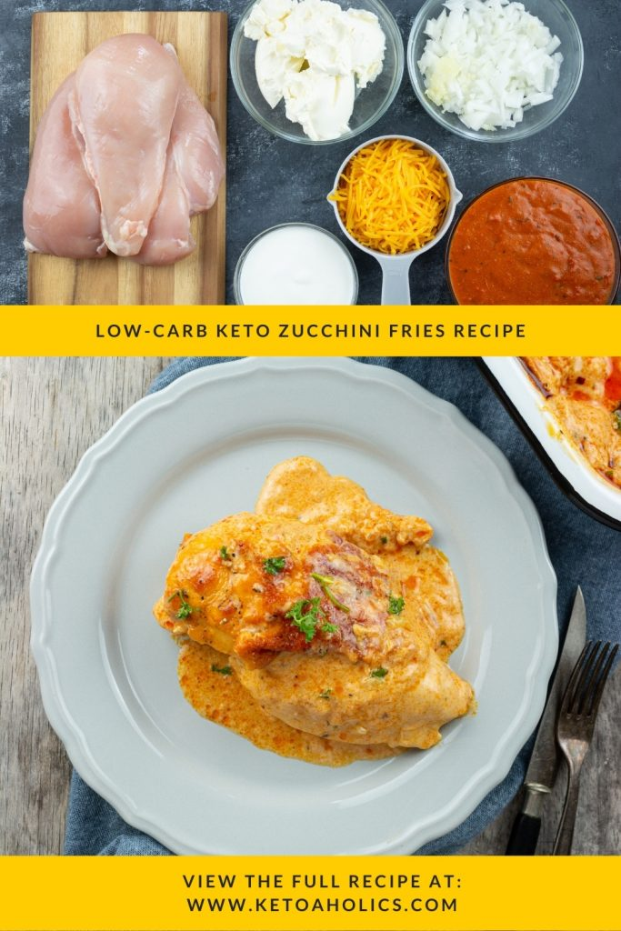 image of Low Carb Keto Chicken Enchilada Casserole With Cream Cheese