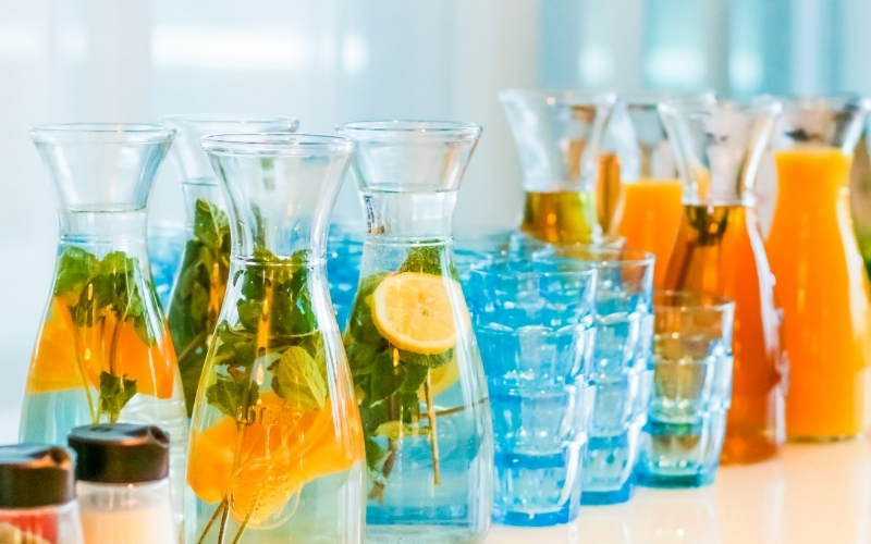 image of low carb flavoured water keto friendly
