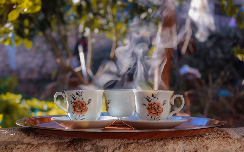 image of low carb hot drink coffee and tea keto friendly