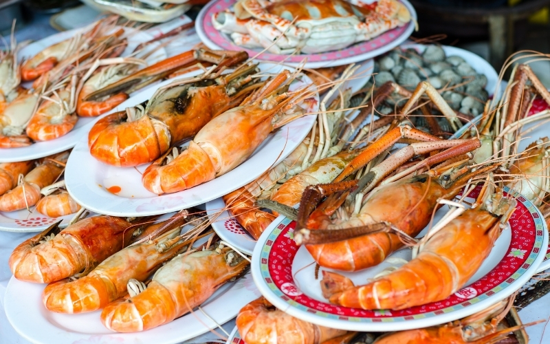Image of Steamed or Boiled Seafood To Takeaway