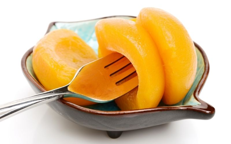 image of Canned Peaches and Keto Diet