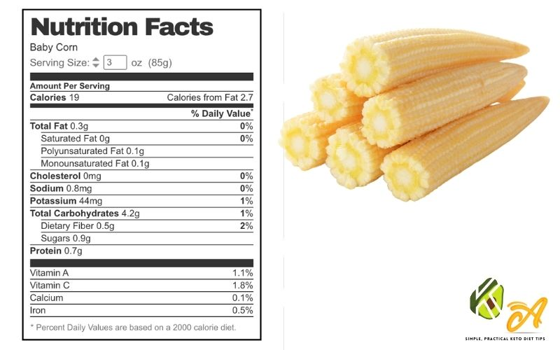 image of Carbs In Baby Corn Keto Friendly