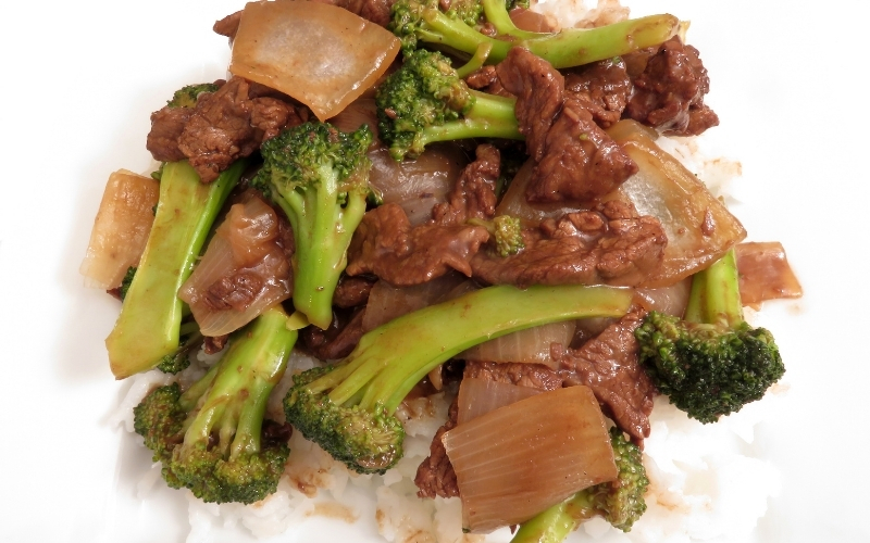 image of Chicken or Beef and Broccoli at Restaurants