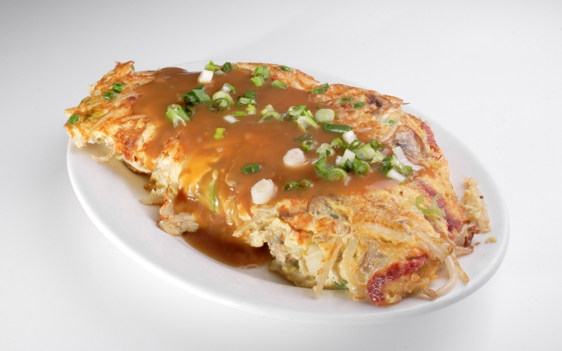 image of Egg Foo Young at Chinese Restaurant