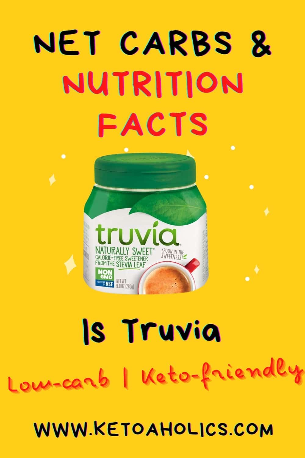 image of truvia net carbs & nutrion fact is it low carb keto friendly